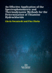 Cover for An Effective Application of the Spectrophotometric and Thermodynamic Methods for the Determination of Thiamine Hydrochloride
