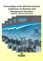 Cover for Proceedings of the 6th International Conference on Business and Management Dynamics